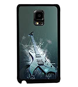 Fuson Premium 2D Back Case Cover Stylish Guitar With Red Background Degined For Samsung Galaxy Note Edge::Samsung Galaxy Note Edge N915