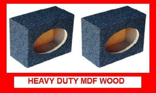 Vlynx Pair Of Square Style 6*9, 6X9 Speaker Box Enclosures Mdf Box