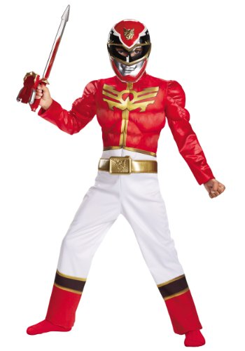 Disguise Power Ranger Megaforce Red Ranger Boy's Muscle Costume