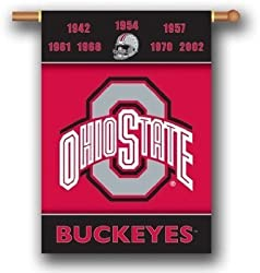 "Ohio State Buckeyes 28""X40"" Banner W/ Pole Sleeve - Rivalry House Divided - NCAA"