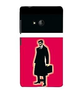printtech Suit man Back Case Cover for Nokia Lumia 540::Microsoft Lumia 540