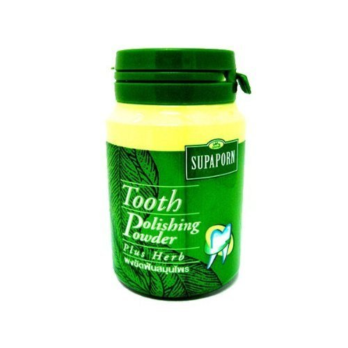 Supaporn Tooth Polishing Powder Thai Toothpaste Plus Herb Freshen Breath 90 G. Made In Thailand
