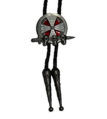 Cross Shield Sword Skulls Bolo Tie at Amazon Men's Clothing store