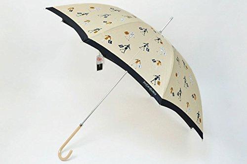 (イヴサンローラン) YVES SAINT LAURENT ウォーキングガール 雨傘( 長傘 )/ ベージュ × 黒