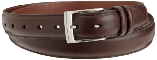 Perry Ellis Mens Hc Milled Big And Tall Belt, Chocolate, 52 SP