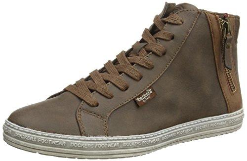 Dockers by Gerli 32LN213, Sneaker alta donna, Marrone (Braun (dunkelbraun 380)), 38