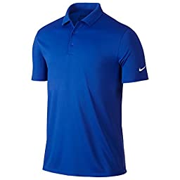 Nike Golf Victory Solid Polo (Game Royal/White) L
