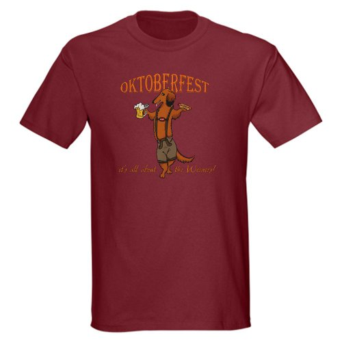 Cafepress Lh Oktoberfest Dachshund Dark T-Shirt - L Cardinal front-985929