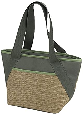 Picnic at Ascot Eco Cooler Tote, Small, Natural/Forest Green