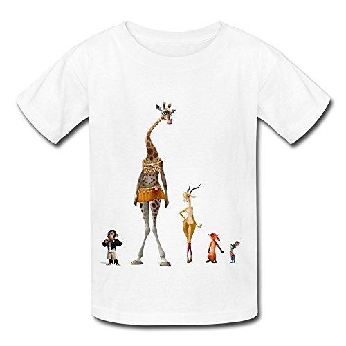 Alida Liuwer Hot Sale Adventure Film Zootopia T Shirt For Big Boys' Girls' White