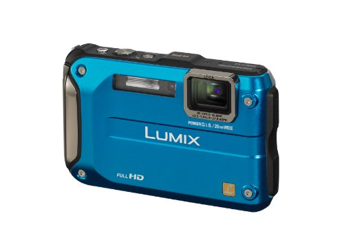 Panasonic Lumix FT3 Waterproof and Shockproof Digital Camera - Blue (12.1MP, 4.6x Optical Zoom with GPS)