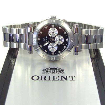 ORIENT Dressy elegant Quarz Herrenuhr Strass CRL01003B0