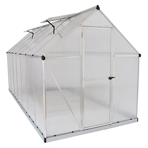 Poly-Tex-Nature-6-x-6-Foot-Greenhouse-Silver-Frame-Twin-Wall-Greenhouse