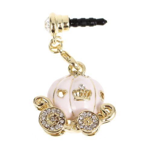 Water & Wood 1Pcs Bling Rhinestone Pumpkin Anti Dust Plug Plug-Earphone Jack For Iphone Ipad Samsung