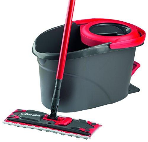 vileda easy wring ultramat flat mop and bucket with power. Black Bedroom Furniture Sets. Home Design Ideas