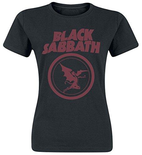 Black Sabbath Fallen Angel Logo Maglia donna nero L