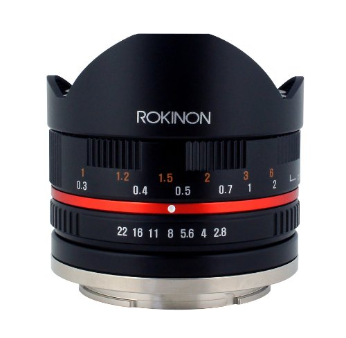 Rokinon 8mm F2.8 Ultra-Wide Fisheye Lens for Sony E-mount and Sony NEX Cameras 28FE8MBK-SE Black
