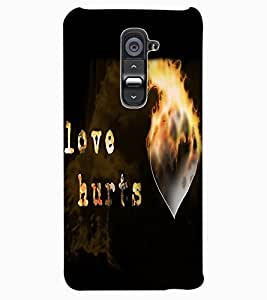 ColourCraft Love Quote Design Back Case Cover for LG G2