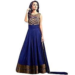 Cenizas Blue Colour Semi-Stiched Salwar suits