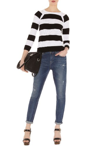 Mesh Stripe Sweater