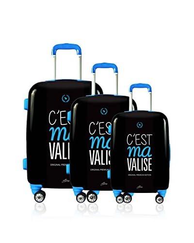 Magellan Set de 3 trolleys rígidos C'Est Ma Valise