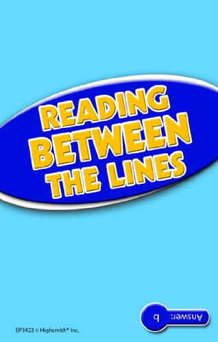 EDUPRESS Reading Between the Lines Reading Comp Blue Level
