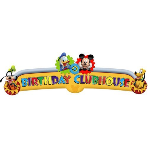 Lowest Prices! Disney Mickey Mouse Clubhouse Playtime Happy Birthday Banner