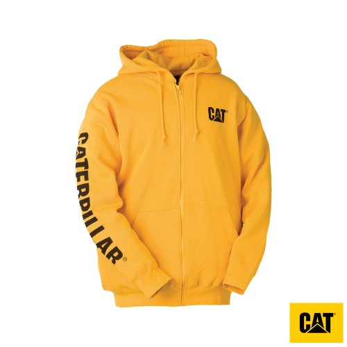 Caterpillar Full Zip Mens Hooded Sweatshirt
