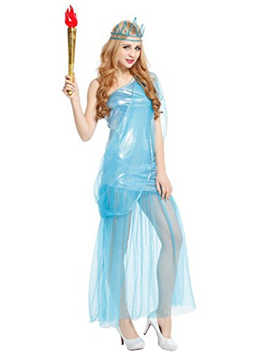 E-COM Womens Costumes Masquerade Party Suit Cothing Liberty Goddess Cosplay Dresses