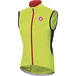 Castelli Velo Vest - Men\'s Yellow Fluo, XL