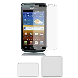 6 x Membrane Pellicola Protettiva per Samsung i8150 Galaxy W (GT-i8150) - Crystal Clear (Invisible), Antigraffio Protezione Schermo, Confezione Originale ed accessori