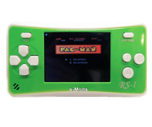"E-MODS GAMING® RS-1 NEW! 8-Bit Retro 2.5"" LCD 152x Video Games Portable Handheld Console (Green)"