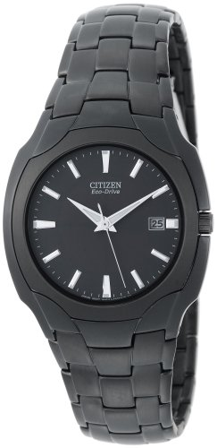 Citizen Men's Eco-Drive Black Plated Stainless Steel Black Dial Watch #BM6015-51E