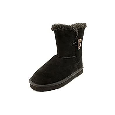 Style & Co. Women's Tiny Faux-Fur Suede Boots in Black Size 6