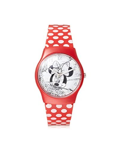 Disney Kid's Minnie Mouse Red/White Plastic Watch