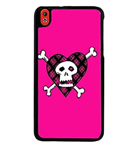 Printvisa Animated Pink Danger Sign Back Case Cover for HTC Desire 816::HTC Desire 816 G
