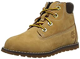 Timberland Pokey Pine 6 Inch Boot with Side Zip Closure (Toddler/Little Kid), Wheat, 10 M US Toddler
