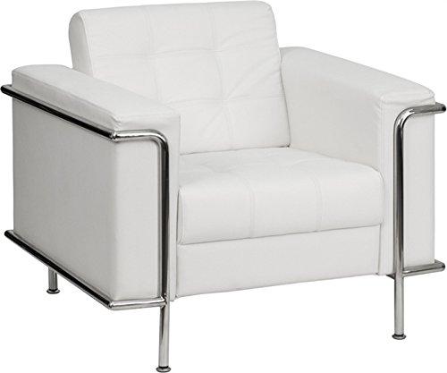 Fauteuil de conception Adri simil cuir blanc–Equipe Classic