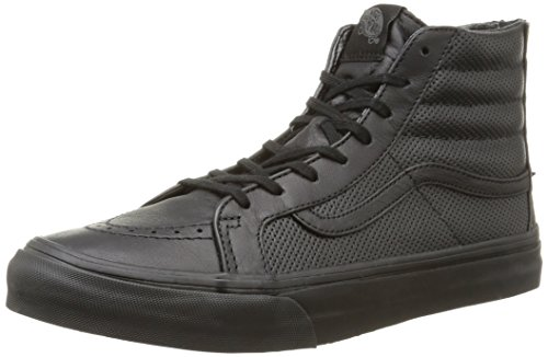Vans - U Sk8-Hi Slim Zip Perf Leather, Sneakers, unisex, Nero (Perf Leather/Black/Black), 39