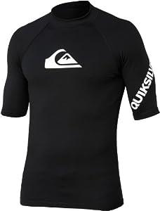 Quiksilver Solid Streak SS Surf Shirt - Black - XXXL
