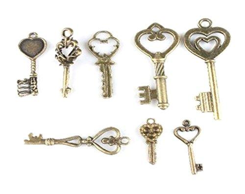 mixed-vintage-bronze-hearts-key-charms-alloy-pendants-findingsheart-key-40pcs
