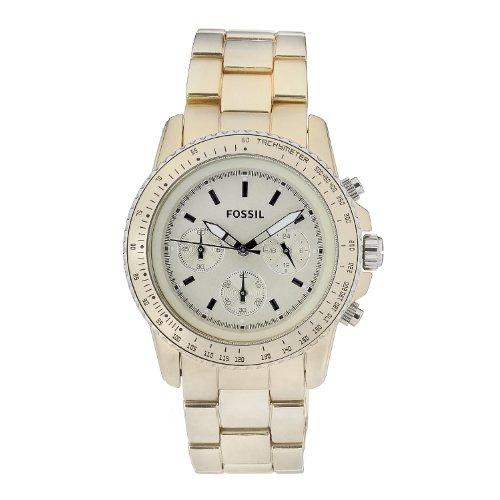 Fossil Women's CH2708 Beige Aluminum Quartz Watch with White Dial