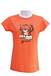 'Tiger' womens Orange T.shirt