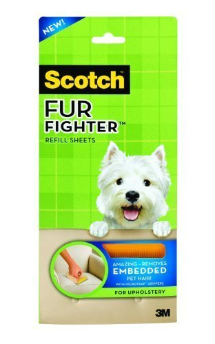 3M Scotch Fur Fighter Hair Remover Refill, 8-Sheet