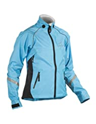 Showers Pass Women's Club Pro Waterproof Cycle Jacket - Powder Blue/Black, Small