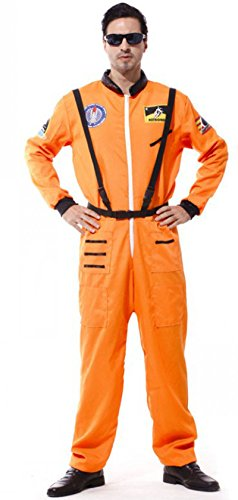 Treasure-box Adult Mens Astronaut Costume Halloween Two Color