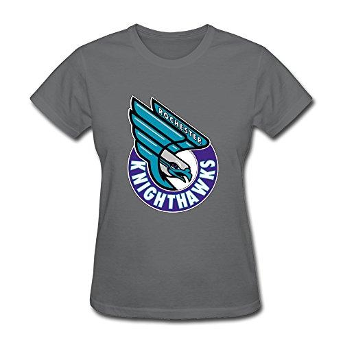 Llangla women 39 s rochester knighthawks logo t shirt s for T shirt printing in rochester ny
