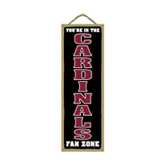 Arizona Cardinals Fan Zone Wood Sign by Hall of Fame Memorabilia