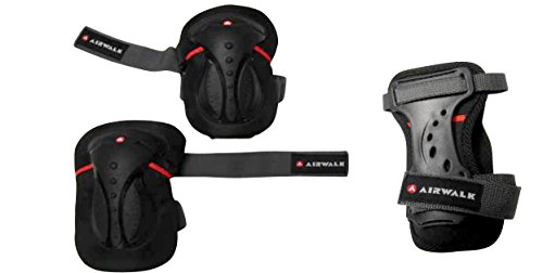 airwalk-set-de-3-protecciones-color-varios-colores-negro-rojo-tamano-medium