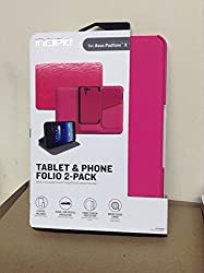 INCIPIO Tablet and Phone Folio 2-pack for the ASUS Padfone X - Pink